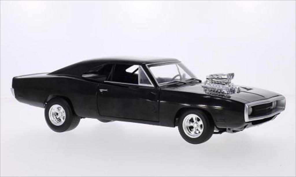 Dodge Charger 1/18 Hot Wheels noire The Fast and the Furious 1970 miniature