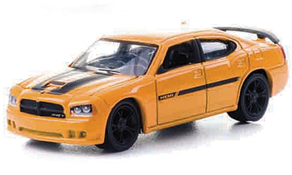 Dodge Charger 1/64 Greenlight SRT8 Custom yellow/black mit Zusatzfelgen 2010 diecast