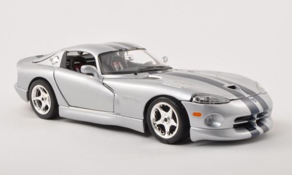dodge viper gts coupe silber blau burago modellauto 1 18. Black Bedroom Furniture Sets. Home Design Ideas