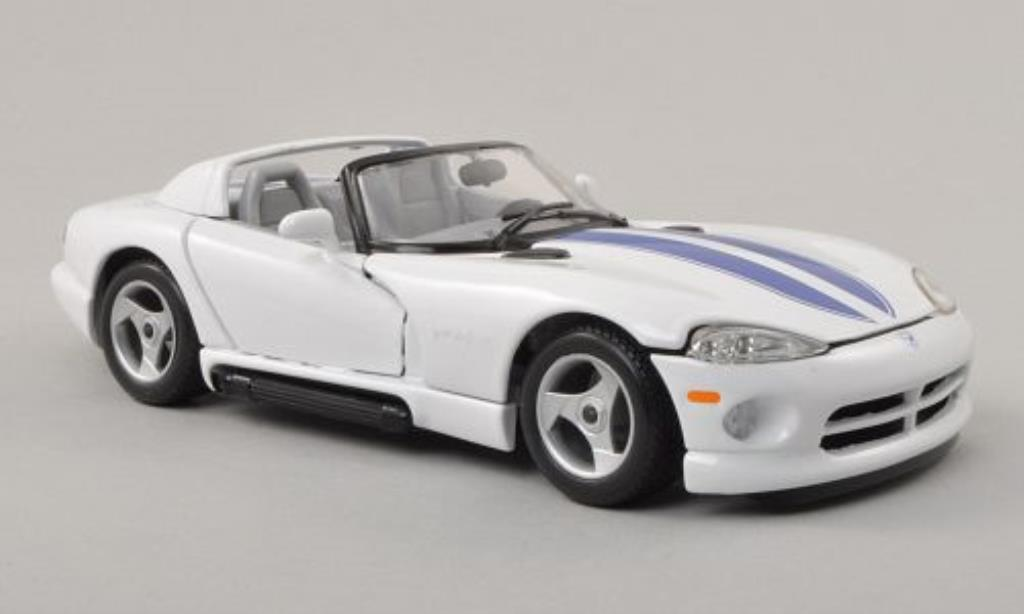 dodge viper rt 10 white blue burago diecast model car 1 24. Black Bedroom Furniture Sets. Home Design Ideas