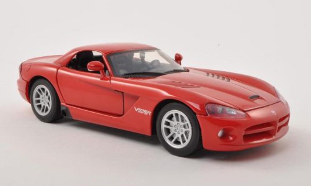 Dodge Viper 1/24 Motormax SRT-10 Hard Top rouge 2003 miniature
