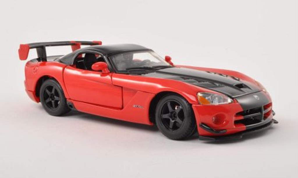 Dodge Viper 1/24 Burago SRT10 ACR red/black diecast model cars