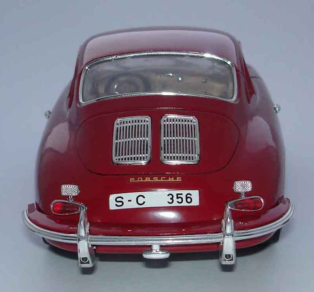 porsche 356 miniature b coupe rouge burago 1 18 voiture. Black Bedroom Furniture Sets. Home Design Ideas