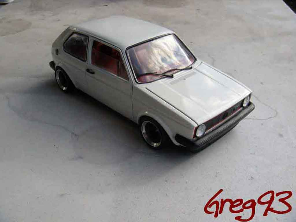 Volkswagen Golf 1 GTI 1/18 Solido jantes ATS tuning weiss