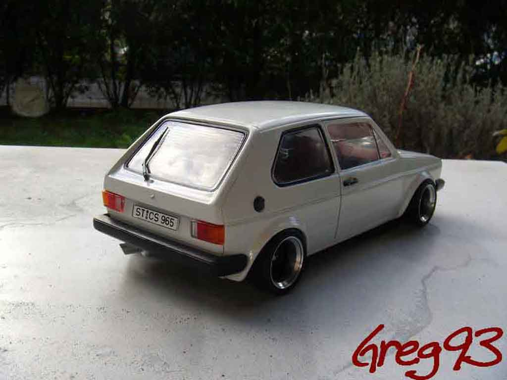 volkswagen golf 1 gti jantes ats miniature tuning blanche solido 1 18 voiture. Black Bedroom Furniture Sets. Home Design Ideas