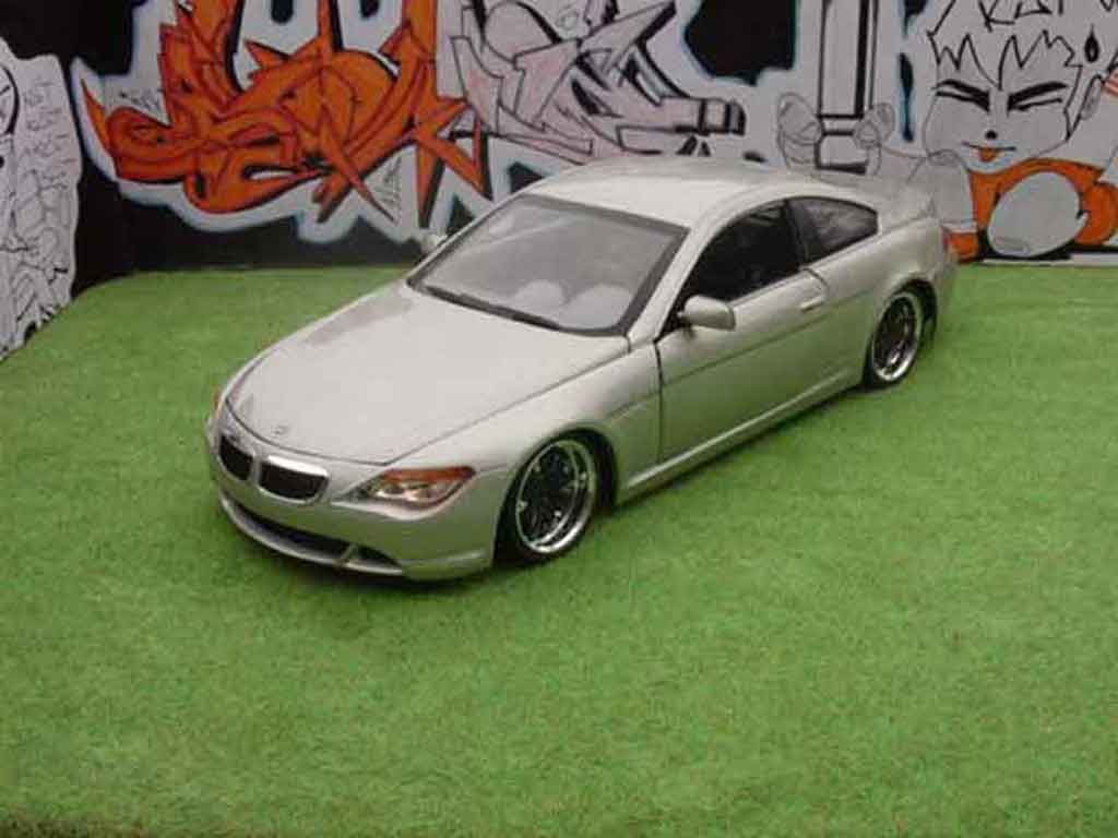 Bmw 645 E63 1/18 Hot Wheels ci coupe couleur champagne dub style tuning miniature
