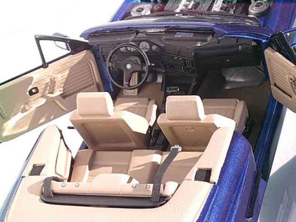 Bmw 325i cabriolet miniature e30 bleu metallized swap for Interieur e30