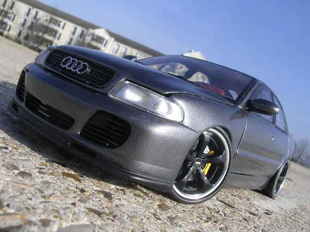 Audi A4 1/18 Ut Models rs turbo techart grise anthracite tuning miniature