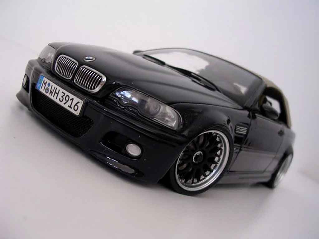 Bmw M3 E46 cabriolet 1/18 Kyosho black jantes bbs tuning diecast model cars