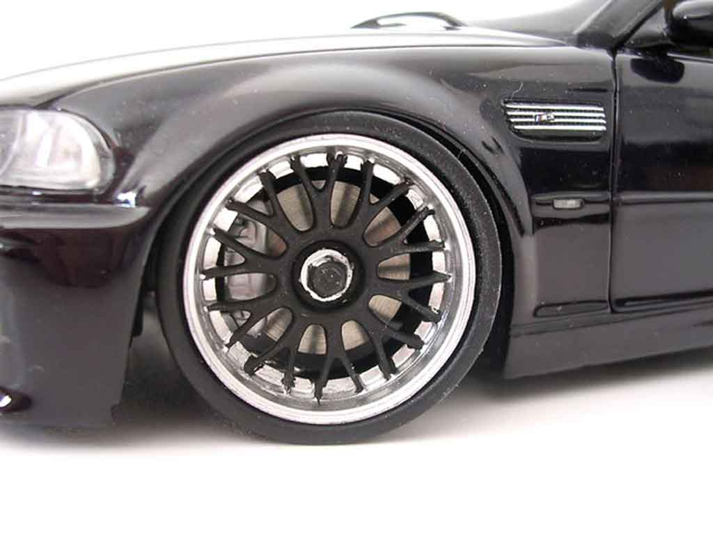 Bmw M3 E46 cabriolet noire jantes bbs tuning Kyosho. Bmw M3 E46 cabriolet noire jantes bbs miniature modèle réduit 1/18