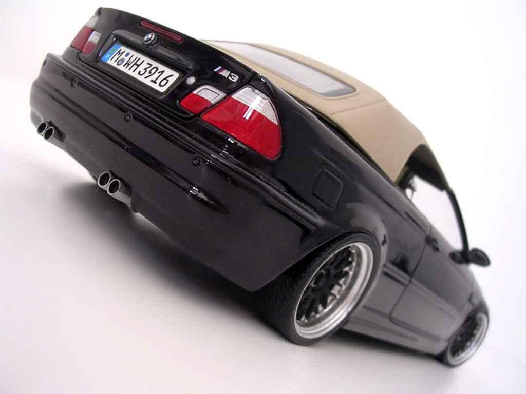 Bmw M3 E46 cabriolet noire jantes bbs tuning Kyosho. Bmw M3 E46 cabriolet noire jantes bbs miniature miniature 1/18