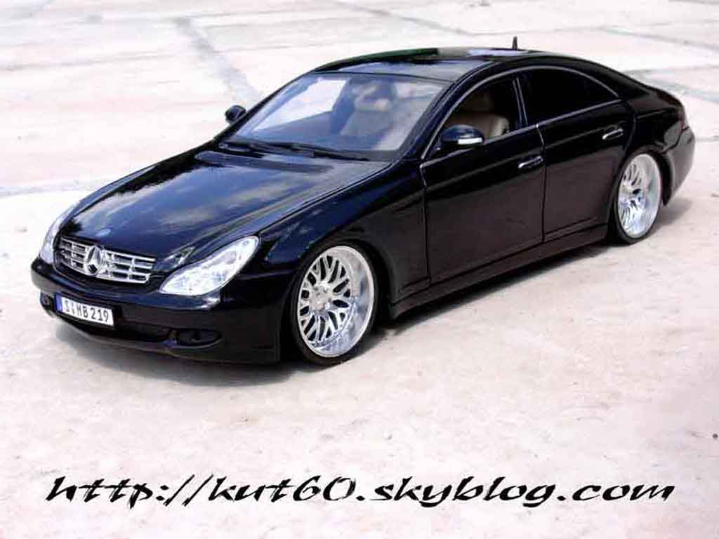 Mercedes Classe CLS 1/18 Maisto german look tuning miniature