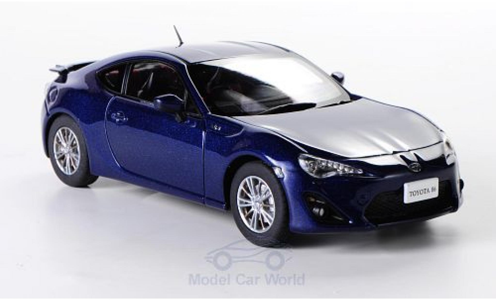 Toyota 86 1/43 Ebbro metallic-dunkelblue RHD