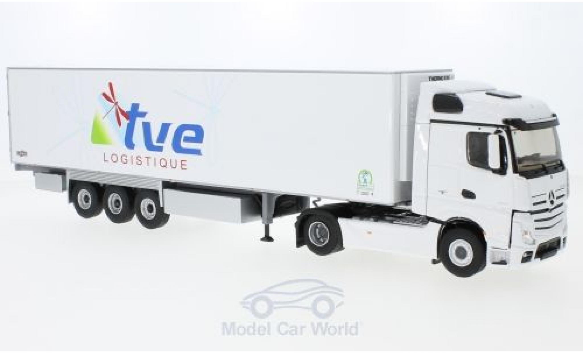 Mercedes Actros 1/43 Eligor 2 Semi white TVE Logistik