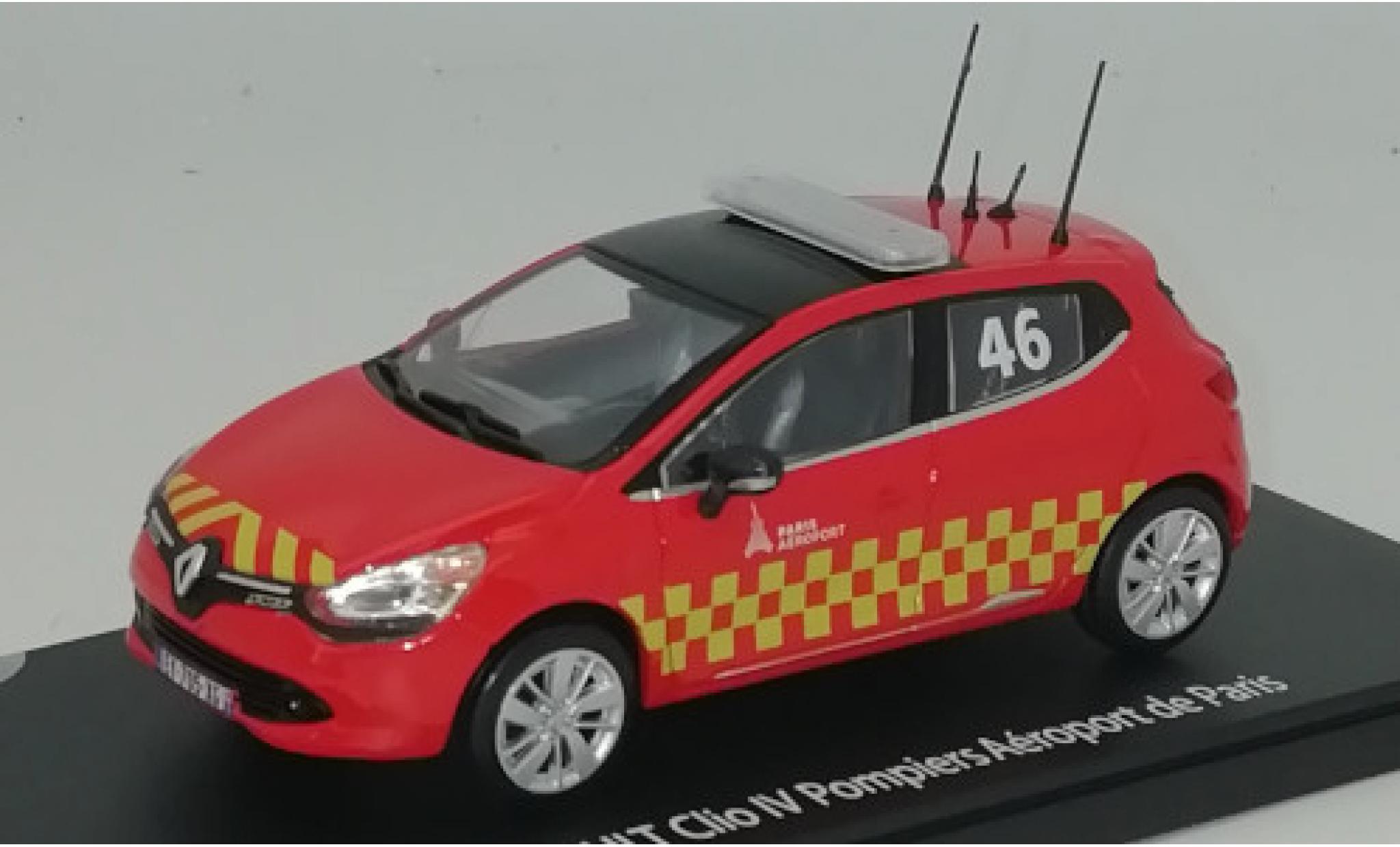 Renault Clio 1/43 Eligor IV Pompiers - Aeroport de Paris 2014 No.46