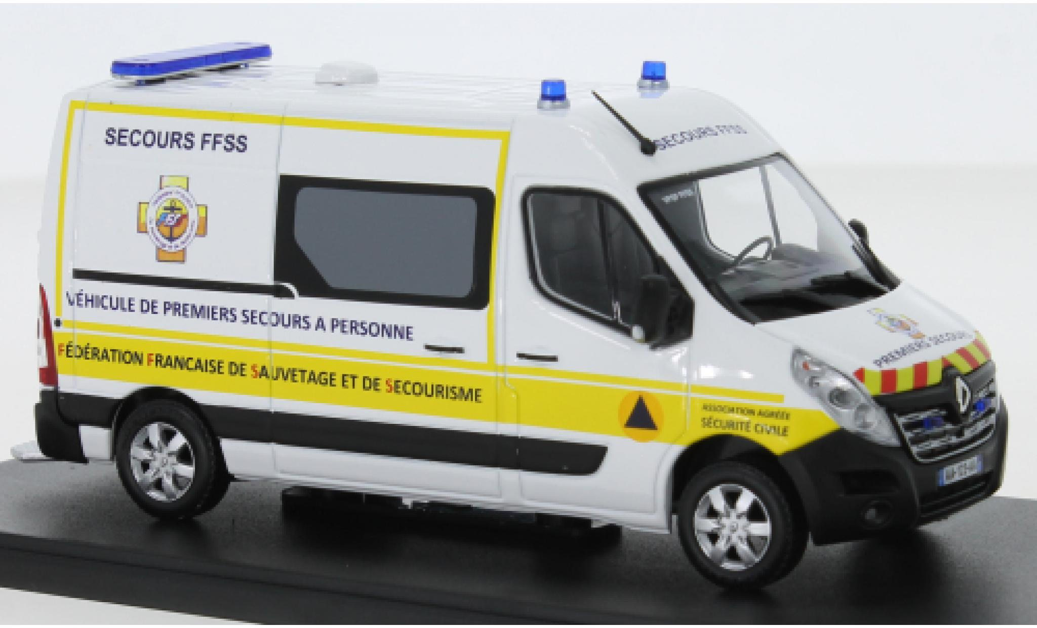 Renault Master 1/43 Eligor Kasten Premiers Secours FFSS 2014