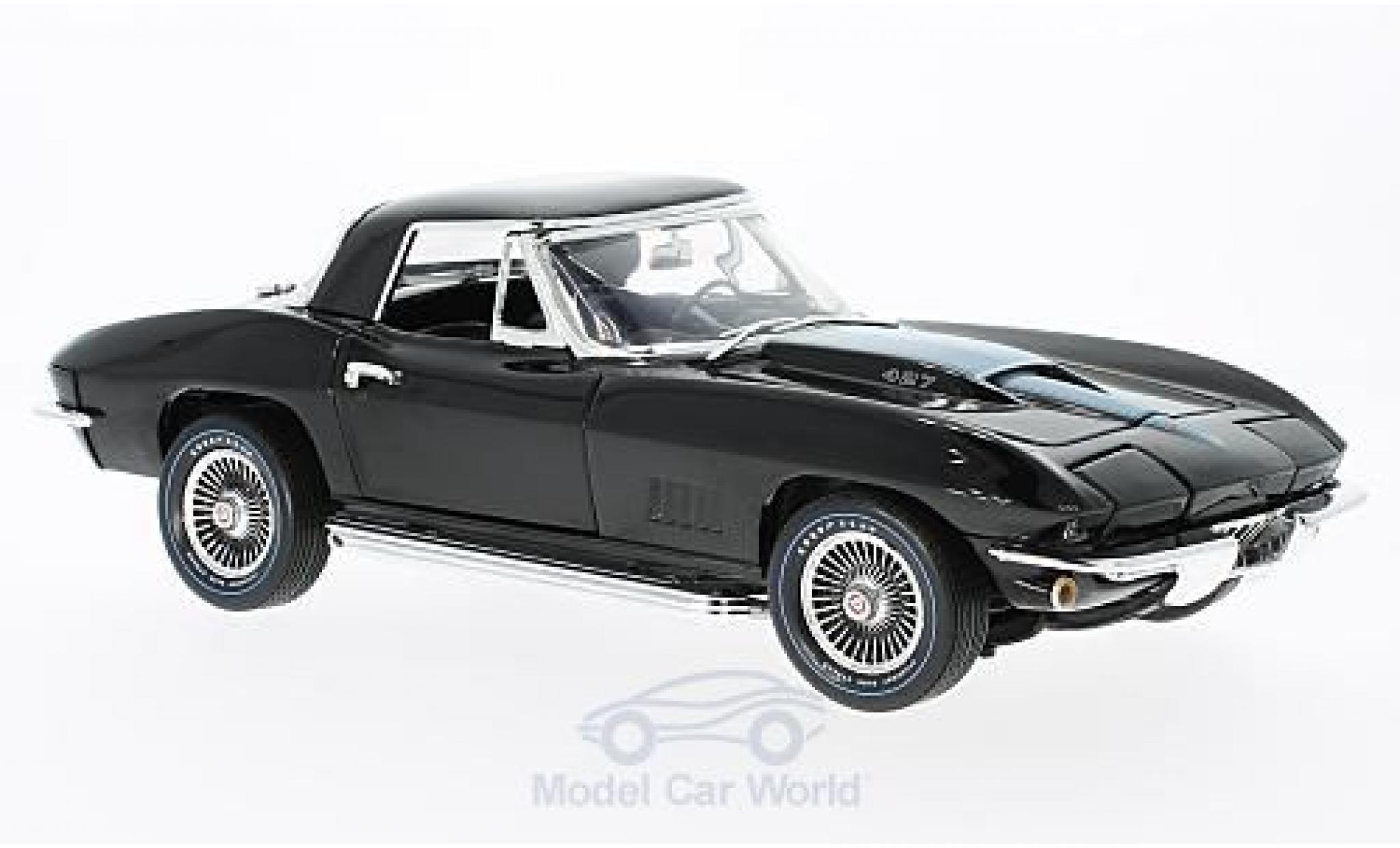 Chevrolet Corvette 1/18 Ertl 427 black/metallise blue 50th Anniversary 1967 ohne Vitrine
