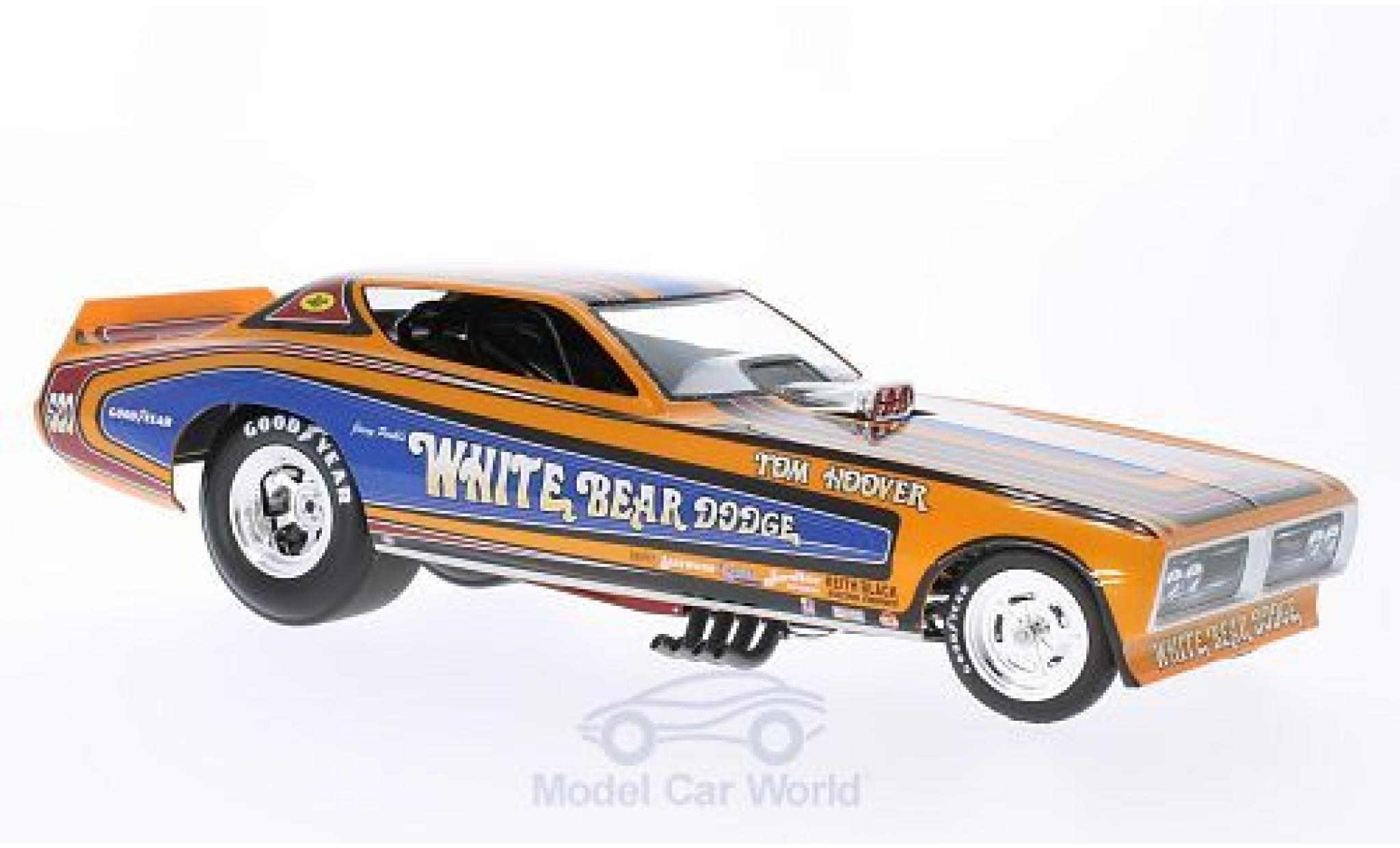 Dodge Charger 1971 1/18 Ertl Funny Car White Bear NHRA J.Perkl