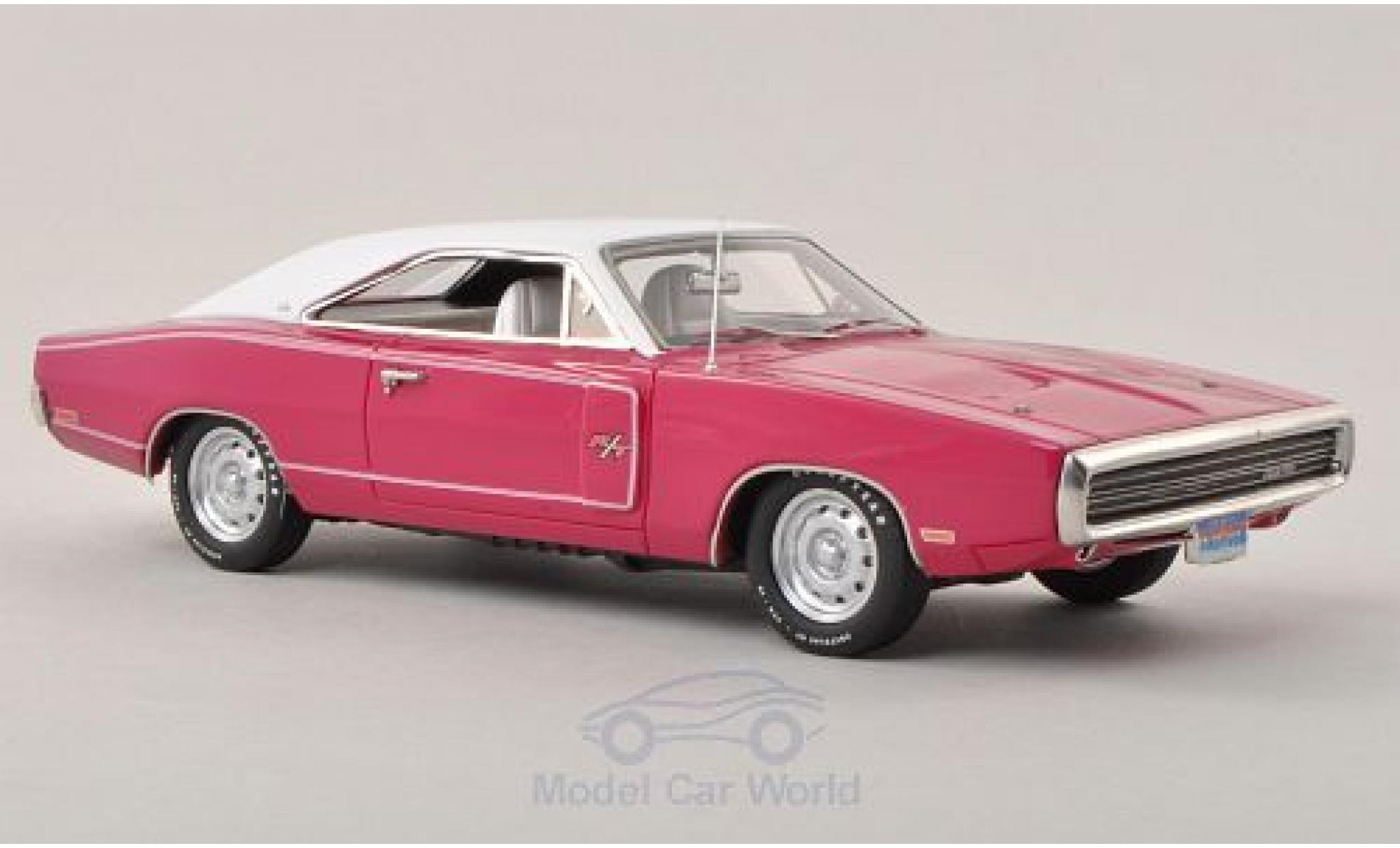 Dodge Charger 1970 1/43 ERTL American Muscle R/T pink/white 1970