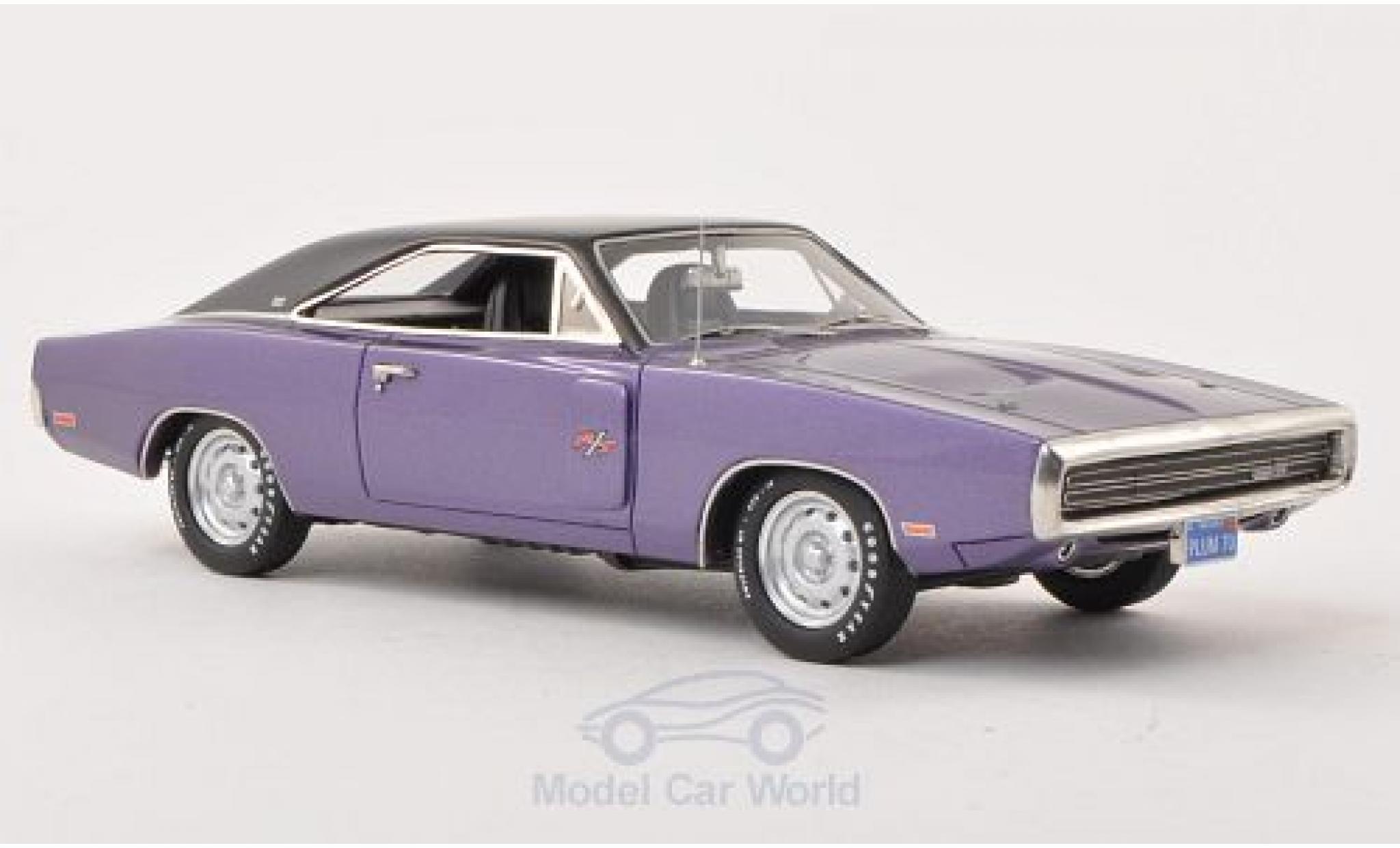 Dodge Charger 1970 1/43 ERTL American Muscle R/T purple/matt-black 1970