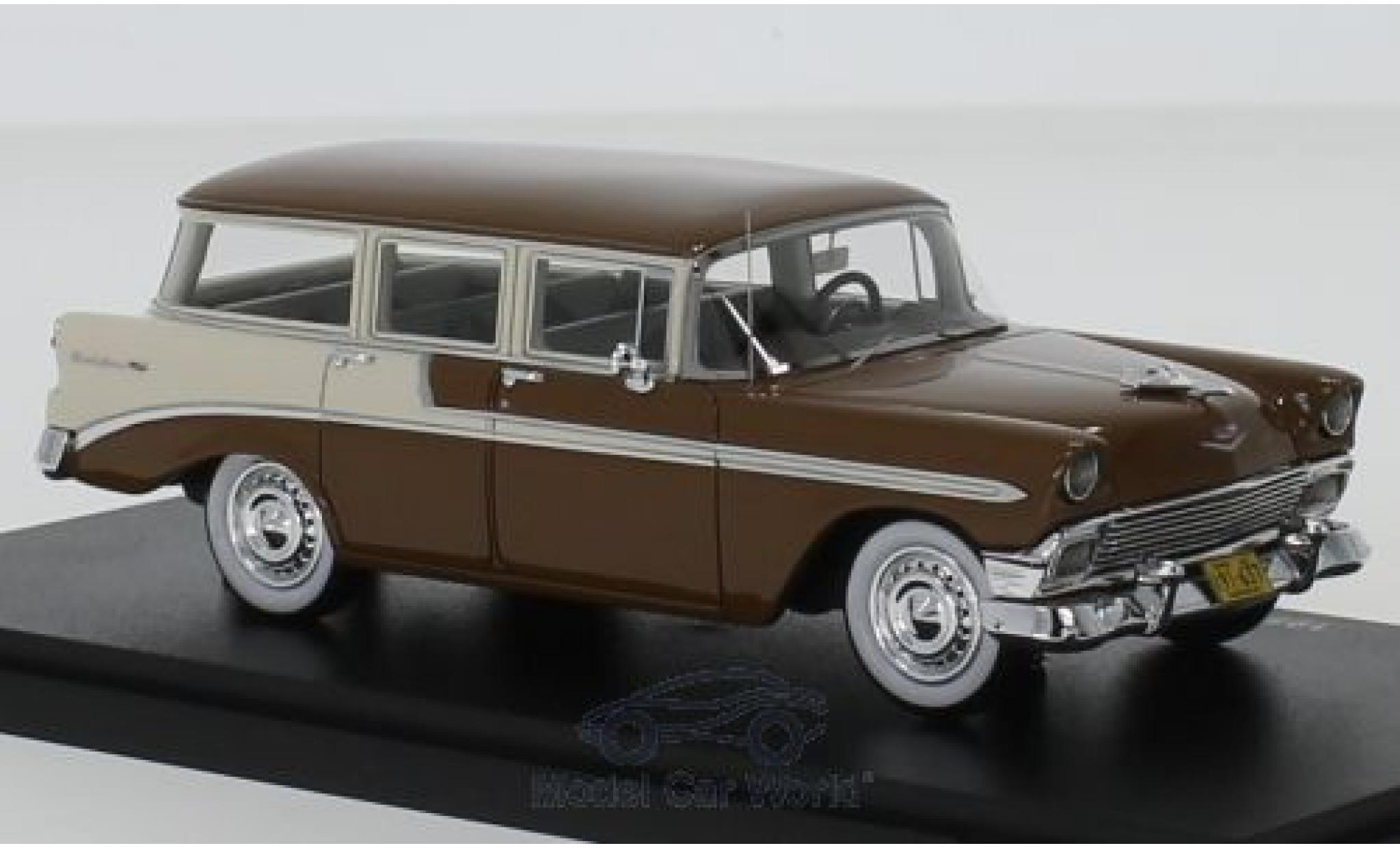 Chevrolet Bel Air 1/43 Esval Models Beauville marron/blanche 1956