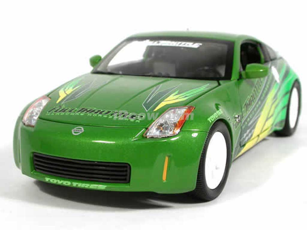 Nissan 350Z 1/18 Ertl 2003 THE FAST AND THE FURIOUS miniature