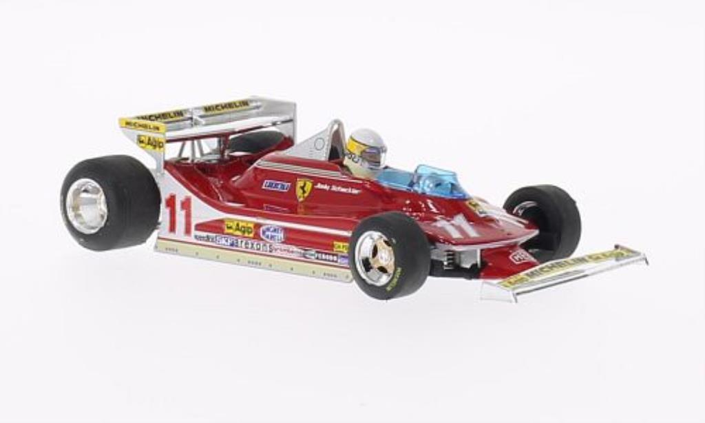 Ferrari 312 T4 1/43 Brumm No.11 mit Fahrerfigur GP Monaco 1979 modellino in miniatura