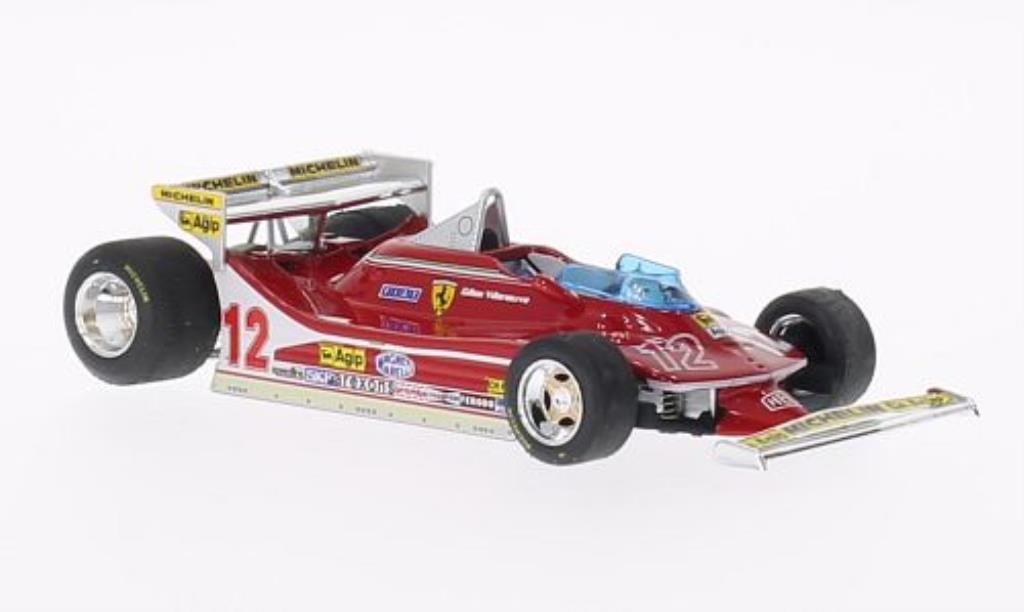 Ferrari 312 T4 1/43 Brumm No.12 GP Monaco 1979 modellino in miniatura