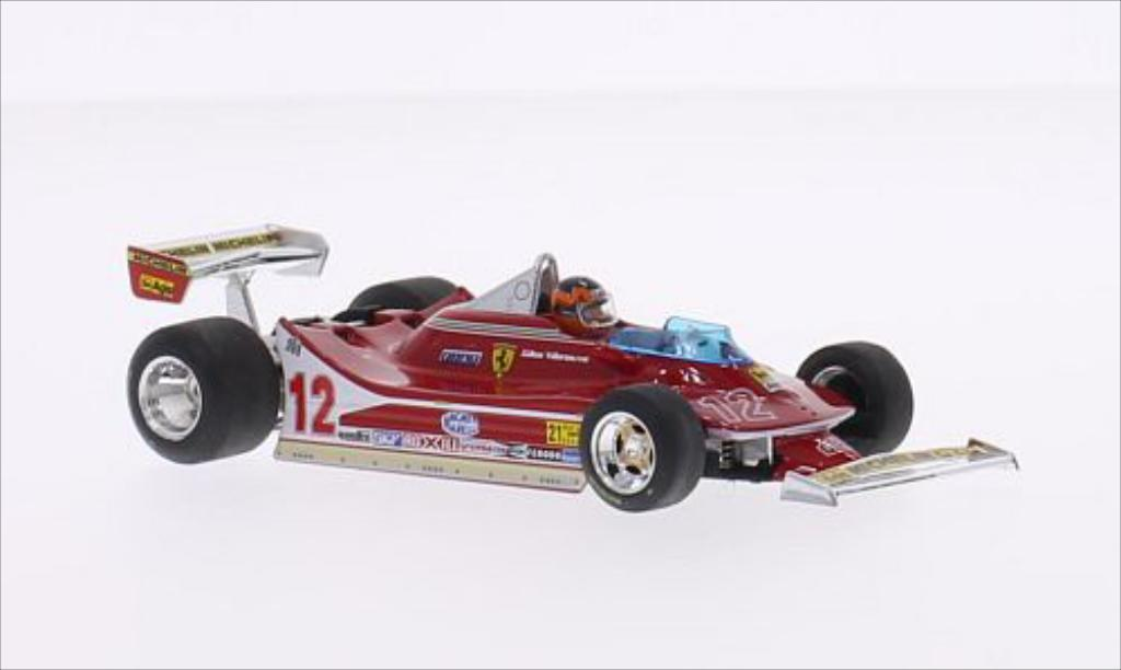 Ferrari 312 T4 1/43 Brumm No.12 Scuderia Formel 1 GP USA West 1979 miniature