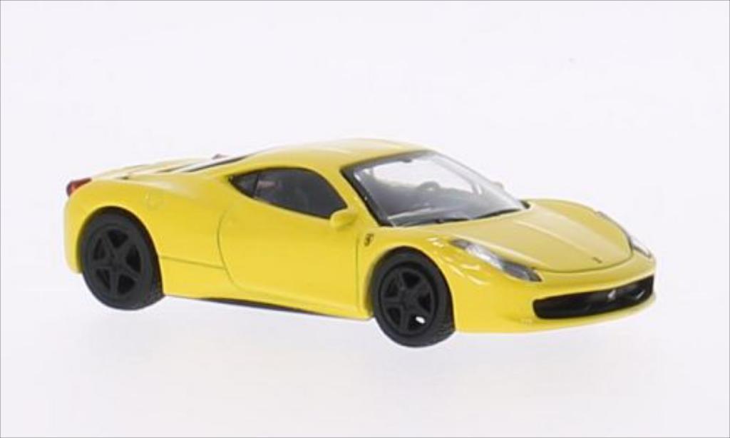 Ferrari 458 Italia 1/64 Schuco Italia jaune miniature