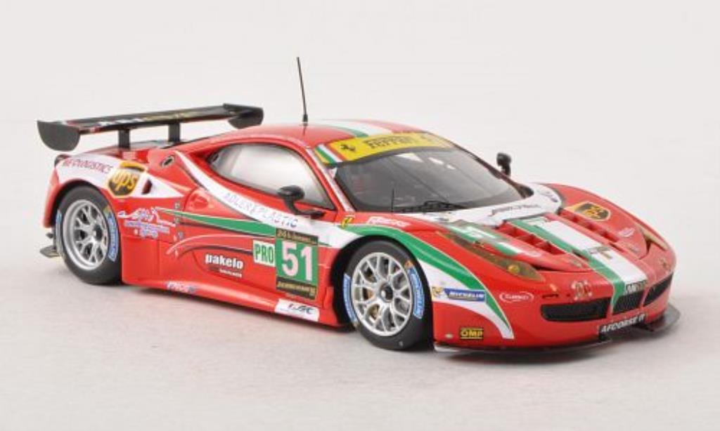 Ferrari 458 Italia 1/43 Fujimi Italia GT2 No.51 AF Corse 24h Le Mans 2013 /M.Malucelli modellino in miniatura