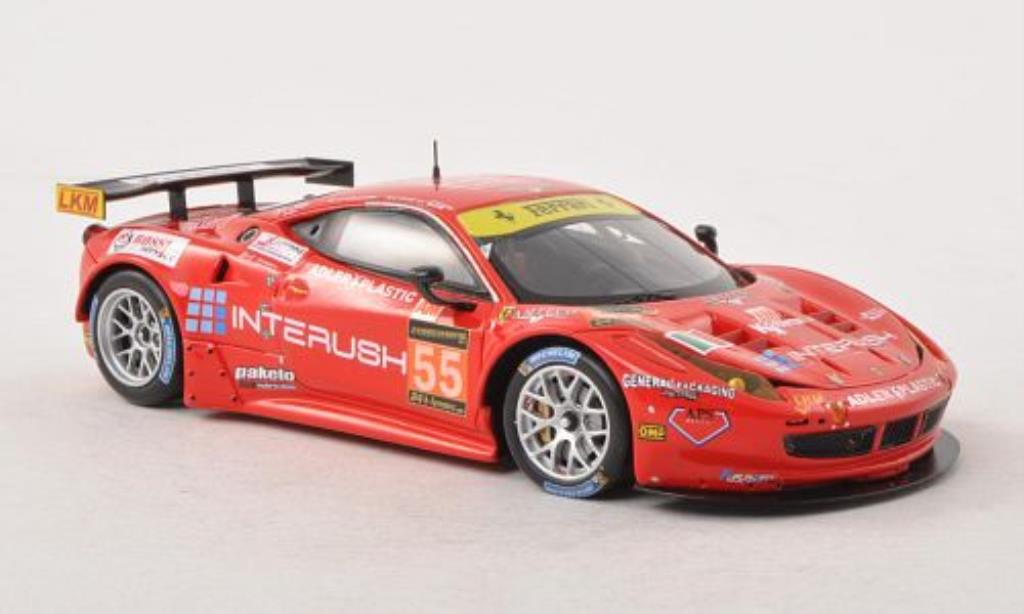 Ferrari 458 Italia 1/43 Fujimi Italia GT2 No.55 AF Corse 24h Le Mans 2013 /L.Case modellino in miniatura