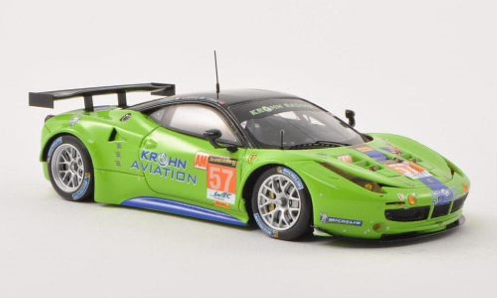 Ferrari 458 Italia 1/43 Fujimi Italia GT2 No.57 Khron Racing 24h Le Mans 2013 /N.Mediani miniature