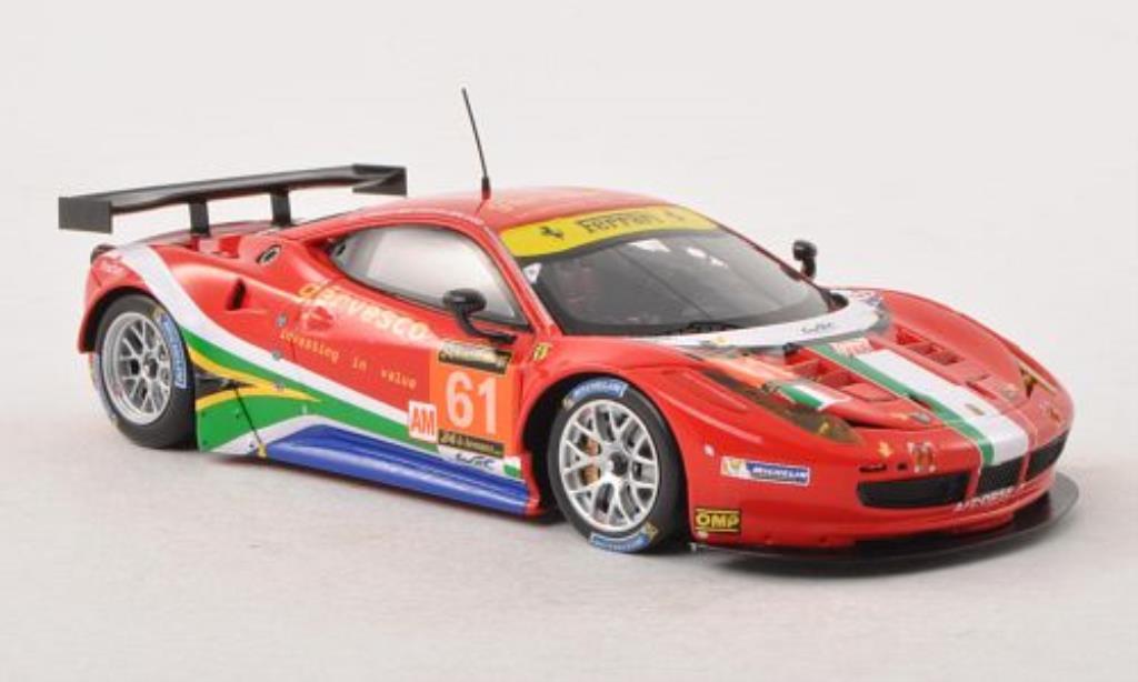 Ferrari 458 Italia 1/43 Fujimi Italia GT2 No.61 AF Corse 24h Le Mans 2013 /M.Cioci modellino in miniatura