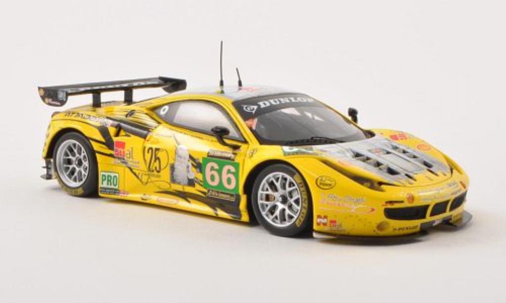 Ferrari 458 Italia 1/43 Fujimi Italia GT2 No.66 JMW Motorsport 24h Le Mans 2013 /A.T miniature