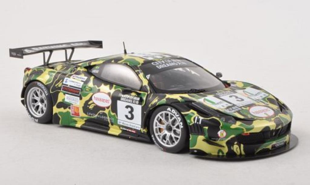 Ferrari 458 Italia 1/43 Fujimi Italia GT3 No.3 Auto Italia/AF Corse Macau GT Cup 2012 diecast model cars