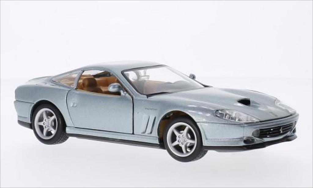 Ferrari 550 Maranello 1/24 Burago metallise grey diecast model cars