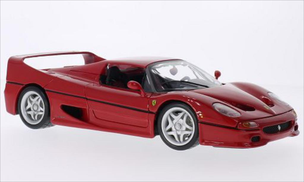 ferrari f50 miniature rouge burago 1 18 voiture. Black Bedroom Furniture Sets. Home Design Ideas