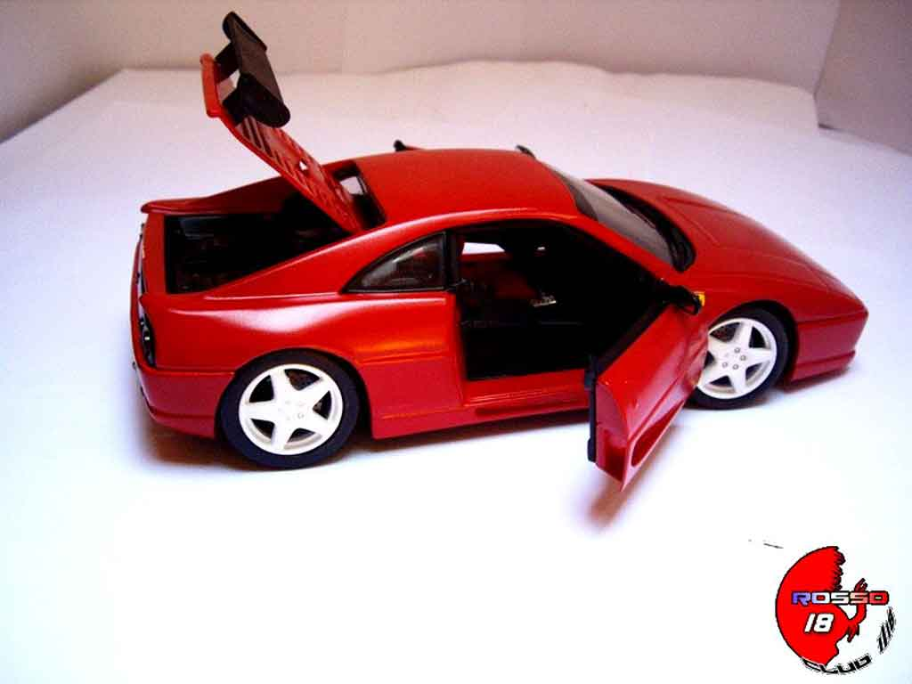 Ferrari F355 Berlinetta 1/18 Hot Wheels challenge rouge