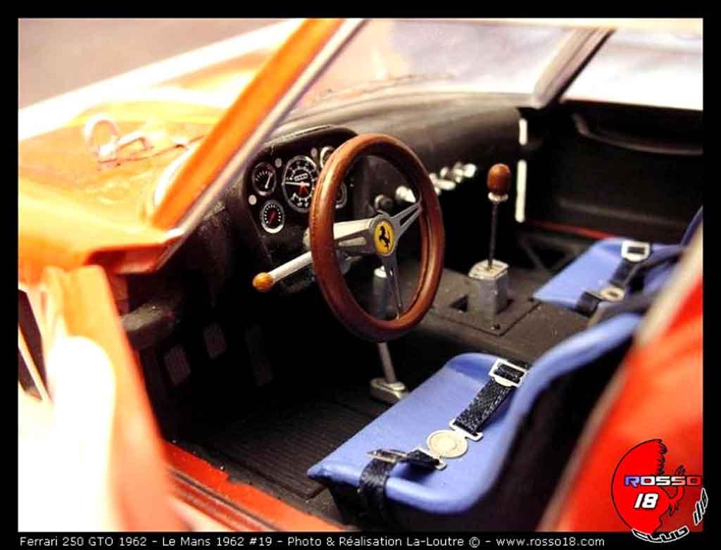 Ferrari 250 GTO 1962 1/18 Burago le mans #19