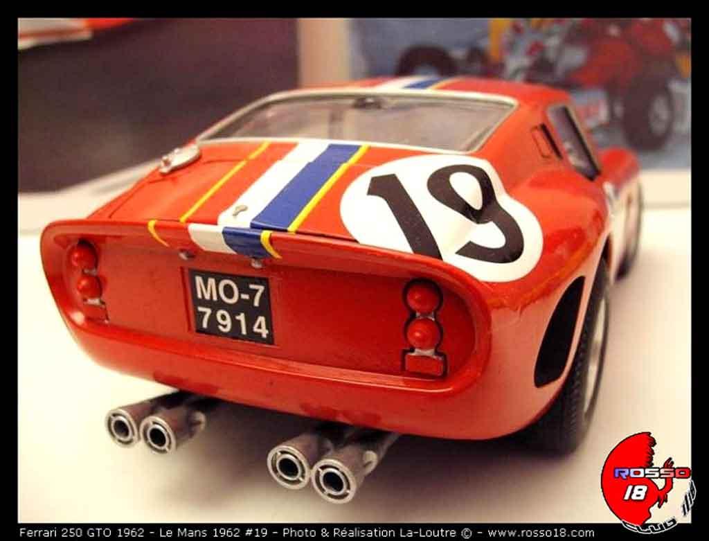 Ferrari 250 GTO 1962 1/18 Burago le mans #19 tuning diecast model cars