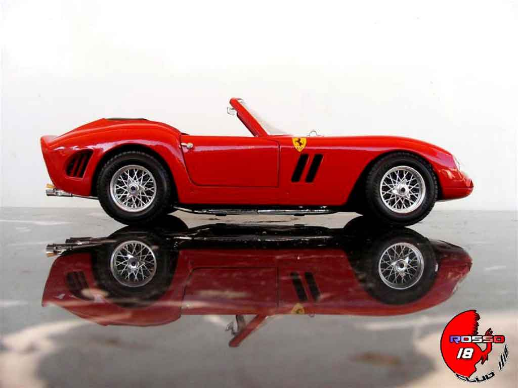 Ferrari 250 TR 1/18 Burago cabriolet red tuning diecast model cars