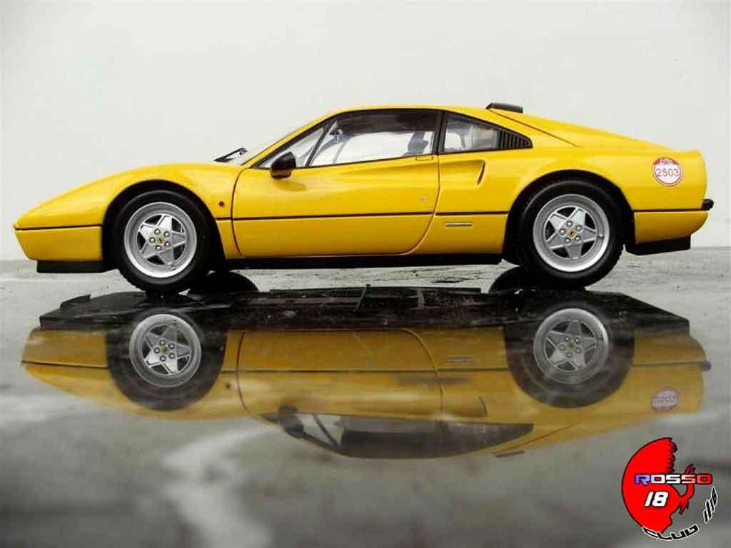 Ferrari 328 GTB 1/18 Kyosho jaune 60 relay #2503