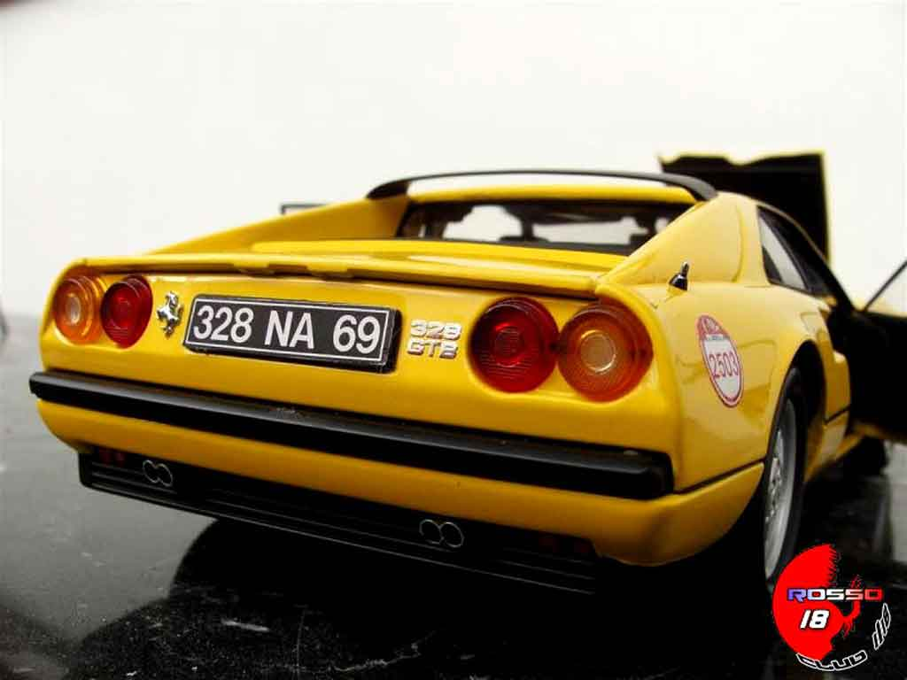 Ferrari 328 GTB 1/18 Kyosho yellow 60 relay #2503 tuning diecast model cars