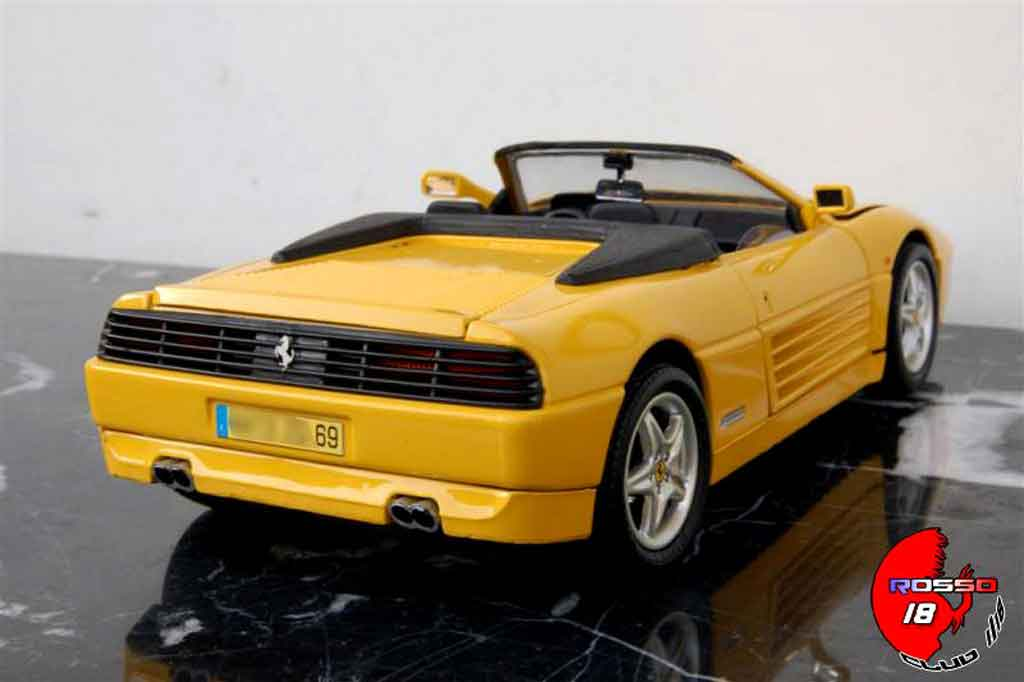 Ferrari 348 Spider 1/18 Mira yellow tuning diecast model cars