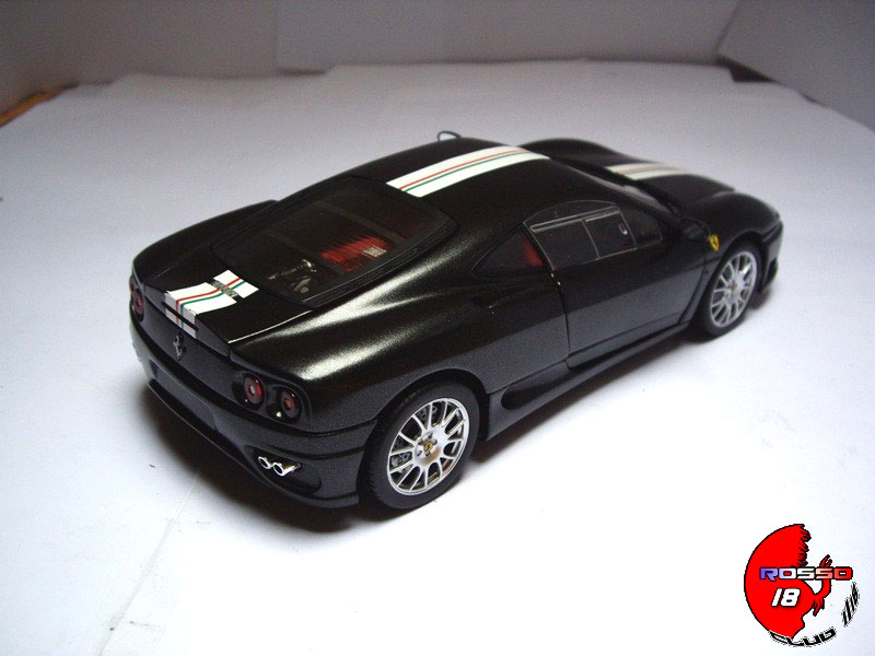 ferrari 360 modena coupe cs schwarz hot wheels modellauto 1 18 kaufen verkauf modellauto. Black Bedroom Furniture Sets. Home Design Ideas