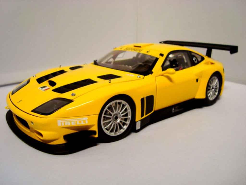 Ferrari 575 GTC 1/18 Kyosho evoluzione 2005 yellow
