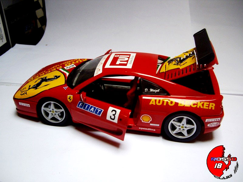 ferrari f355 berlinetta miniature challenge 3 auto becker hot wheels 1 18 voiture. Black Bedroom Furniture Sets. Home Design Ideas