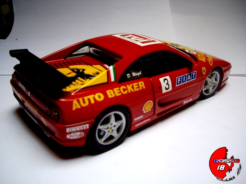 ferrari f355 berlinetta challenge 3 auto becker hot wheels diecast model car 1 18. Black Bedroom Furniture Sets. Home Design Ideas