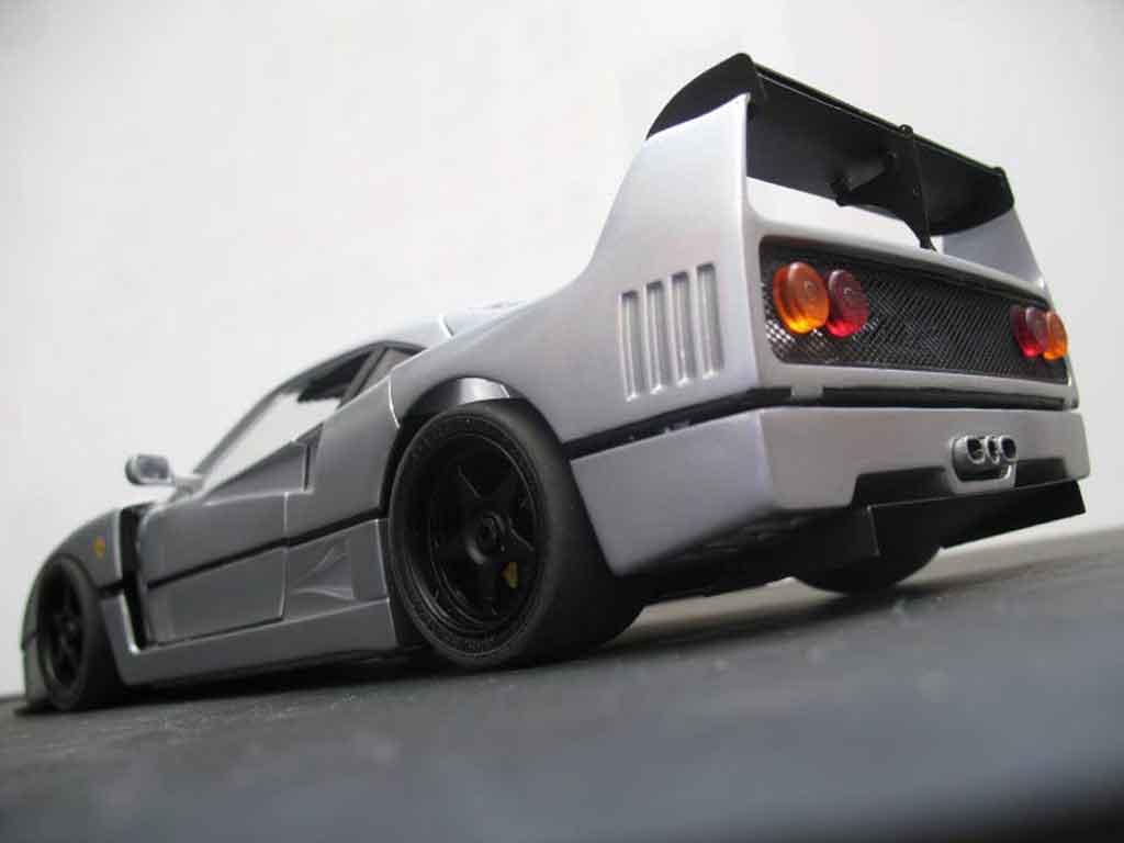 Ferrari F40 LM grigio tuning Burago. Ferrari F40 LM grigio modellini 1/18